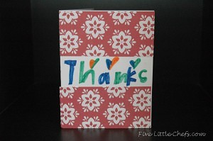 Finished thank you card