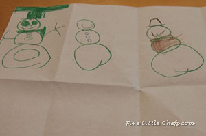 Playing snowman dice game