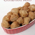 Bite Sized Cinnamon Rolls from fivelittlechefs.com #kidscooking