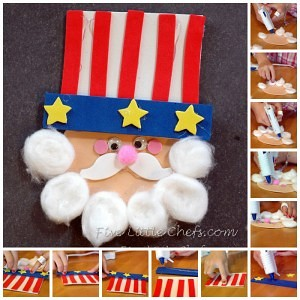Uncle Sam Craft from fivelittlechefs.com A fun 4th of July craft!