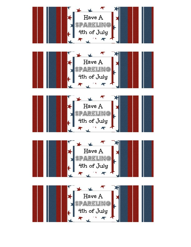 4th of July Printables from fivelittlechefs.com - These cute free printables will be a huge hit at your 4th of July celebration! #4th of July #party #printables