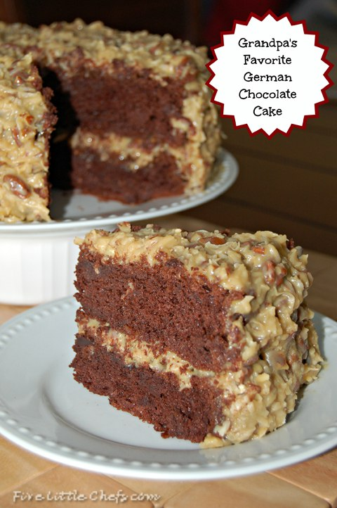 German Chocolate Cake by fivelittlechefs.com - The best German Chocolate Cake recipe out there.