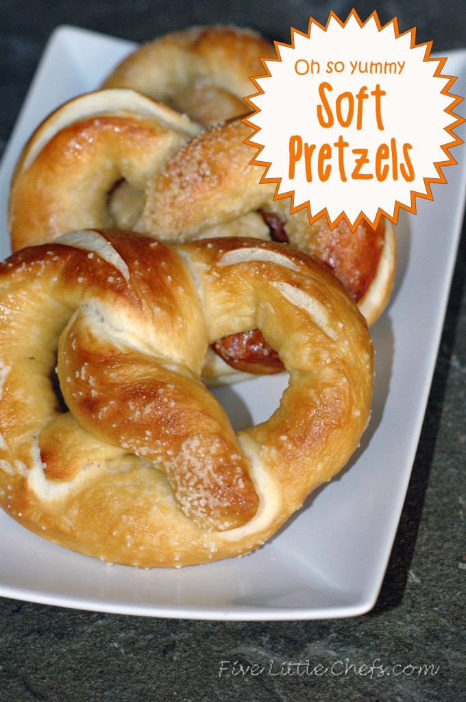 This easy homemade buttery soft pretzel recipe is loved by many! We have made it easy to understand how to make these with step by step instructions.They taste just like the mall but made at home for a great snack. fivelittlechefs.com
