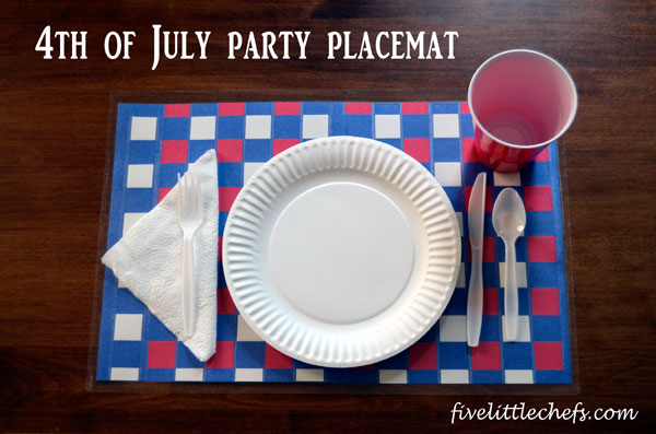 4th of July Party Placemat #4thofjulycrafts