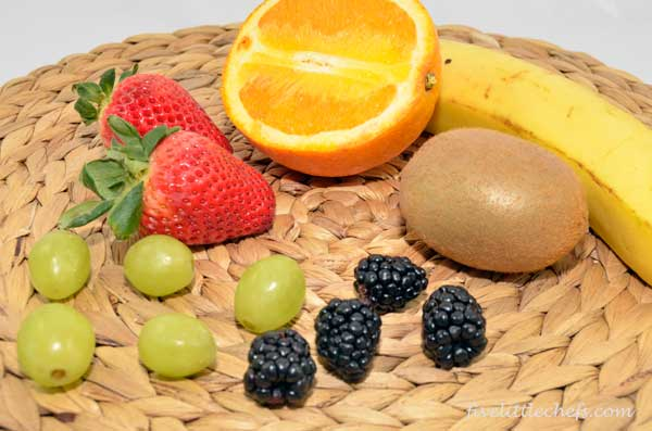 ingredients for fruit parfait