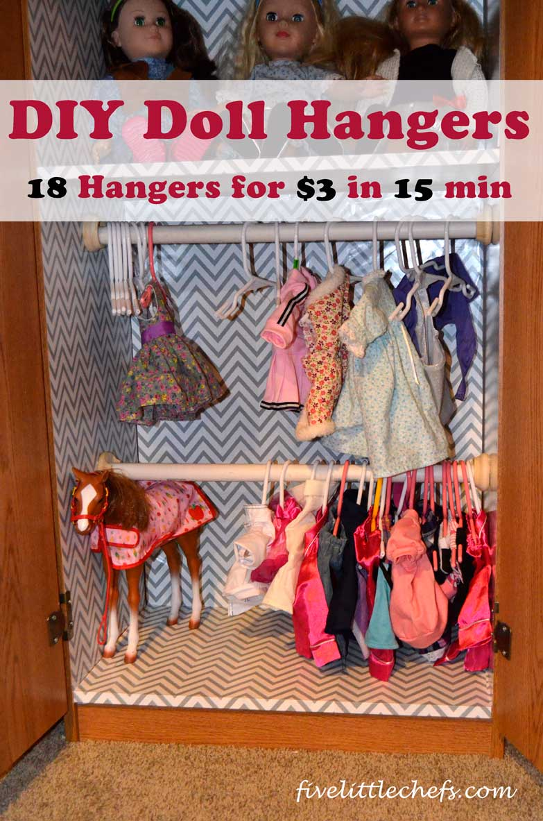 DIY Doll Hangers - Make 18 hangers for $3 in less the 15 minutes!