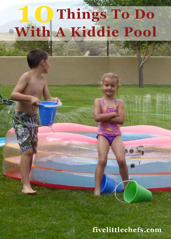 10 kiddie pool ideas for summer. I can't believe how much the kids love #6!