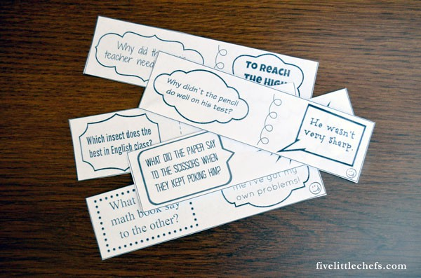 Lunch box jokes are fun for kids to take to school. Use the printable jokes for kids, cut out, and then slip one into your child's lunch box each day.