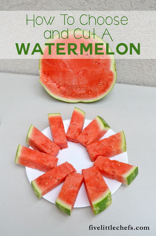 How to choose and cut a watermelon for a summer BBQ.
