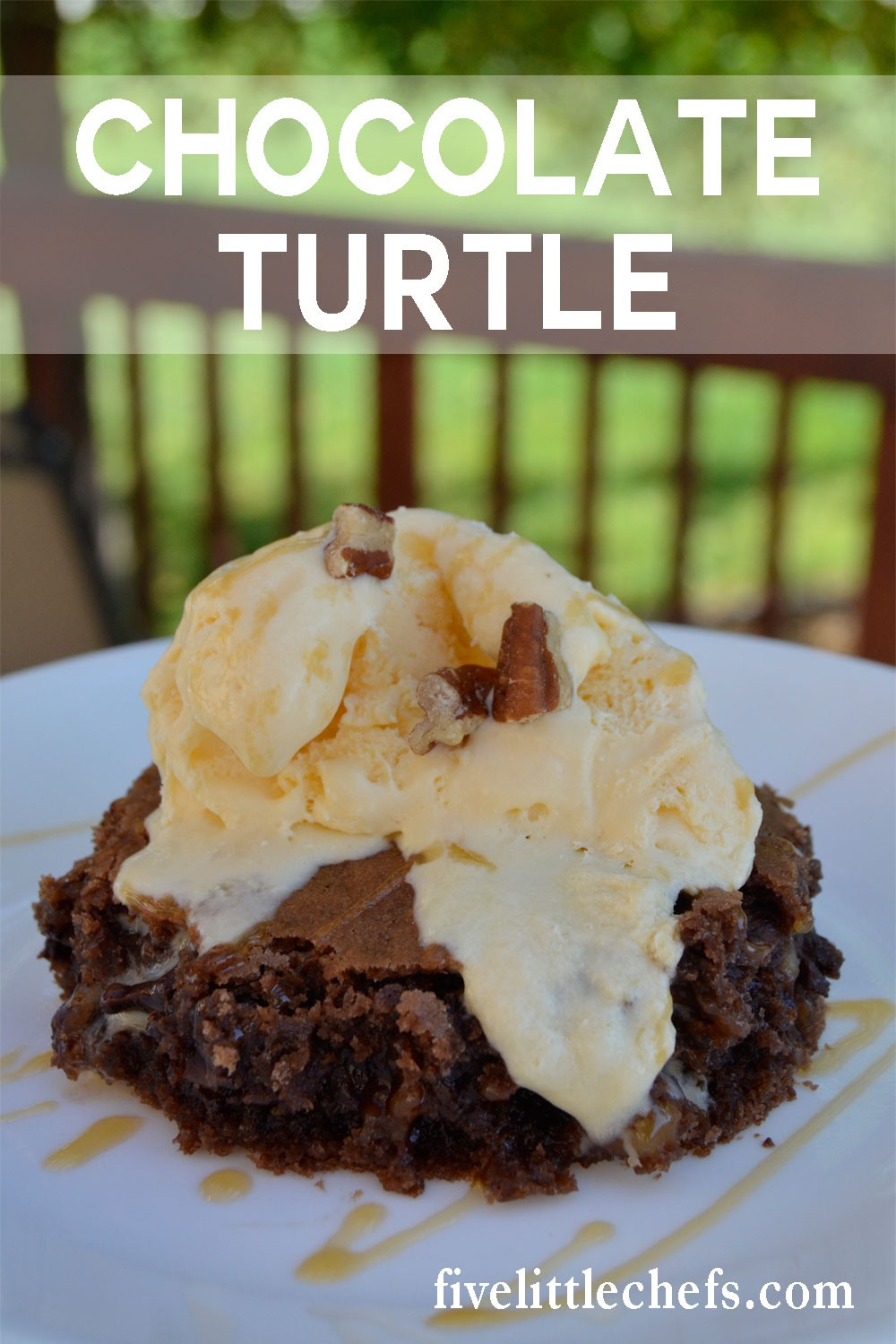 Chocolate Turtle Cake is an easy recipe. Use a german chocolate cake mix then add in some chocolate chips and caramel.