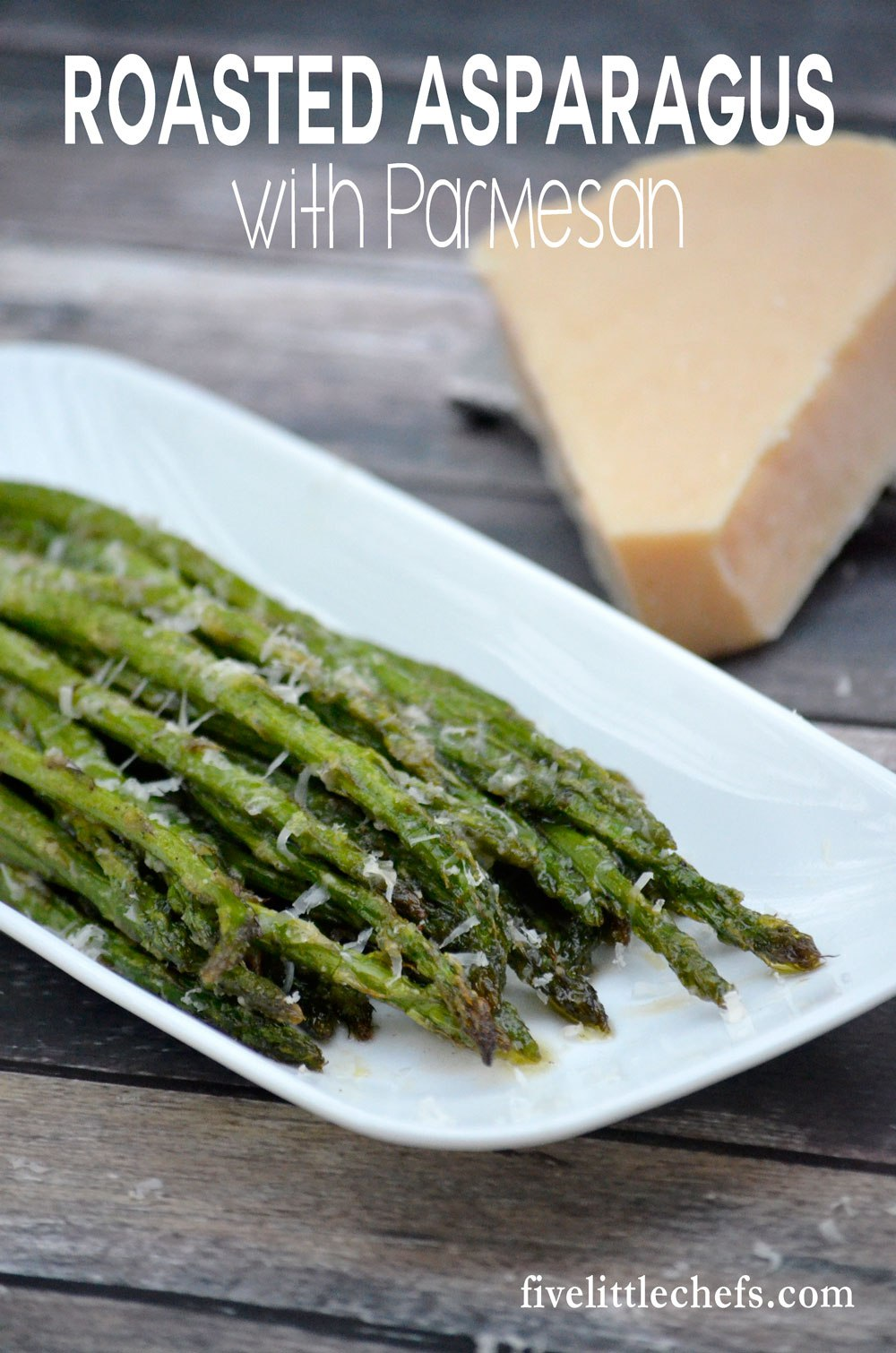 Roasted Asparagus with Parmesan can be made in under 15 minutes. It is simple enough for a quick side, yet elegant for a special meal.