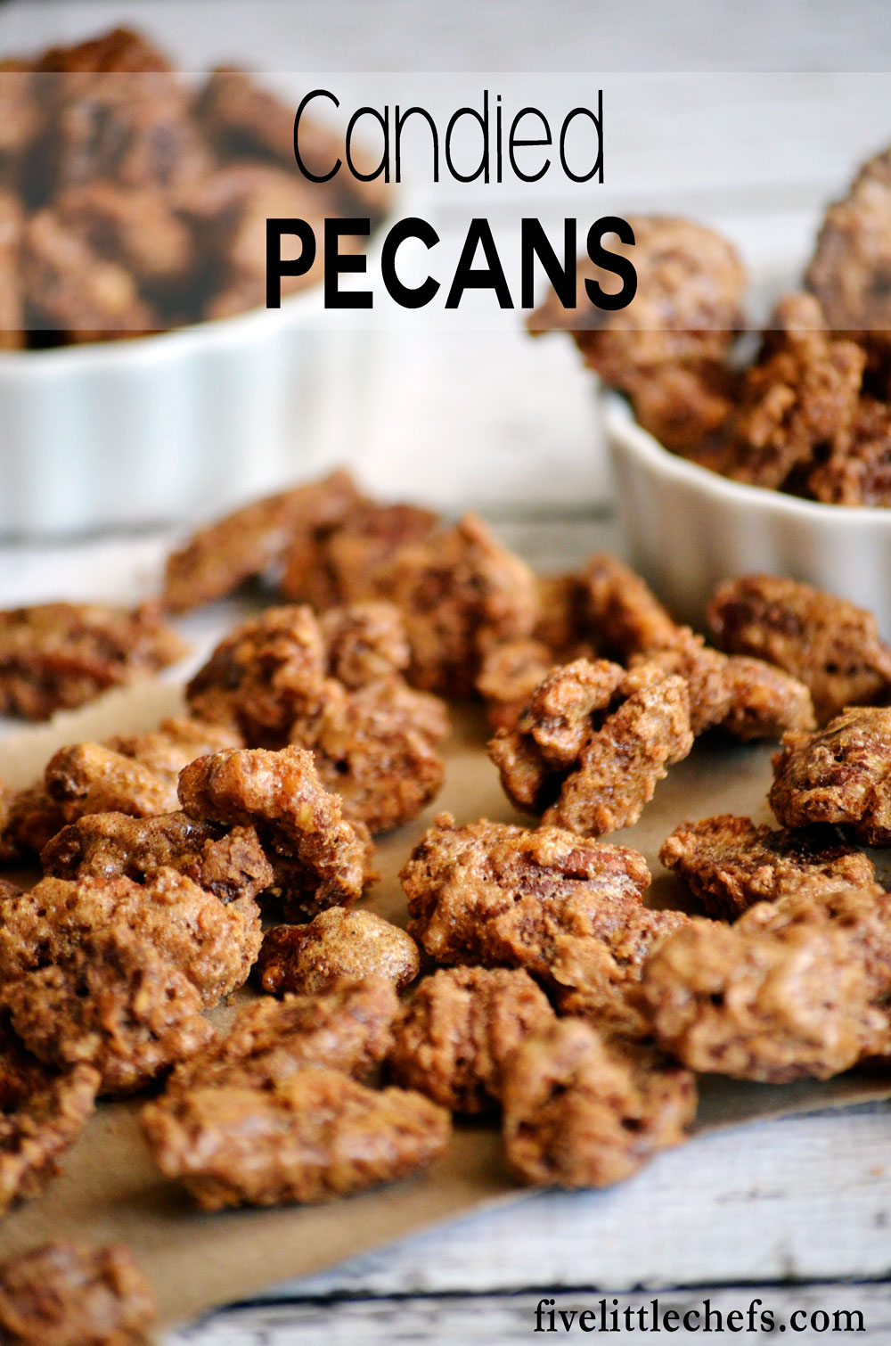 Candied Pecans is an easy recipe with brown sugar and cinnamon. Tastes great on salads or on sweet potatoes.