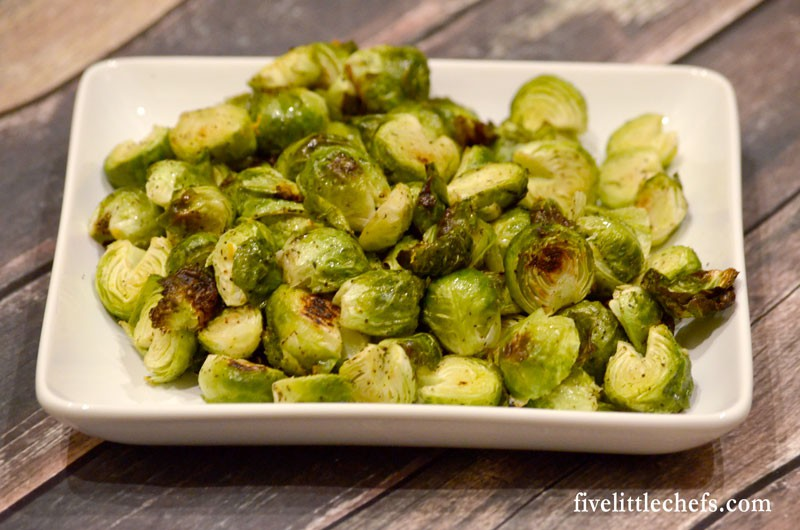 Roasted Brussels Sprouts are created in the oven until they are carmelized. This easy recipe makes the perfect side dish.