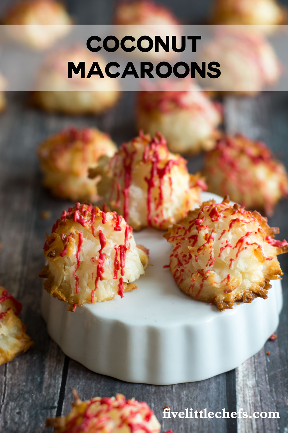 The best and easiest Coconut Macaroons. The coconut is toasted on the outside making a crunchy crust while the inside is soft and chewy. This recipe has only 5 ingredients, including sweetened condensed milk, which you probably already have in your pantry.